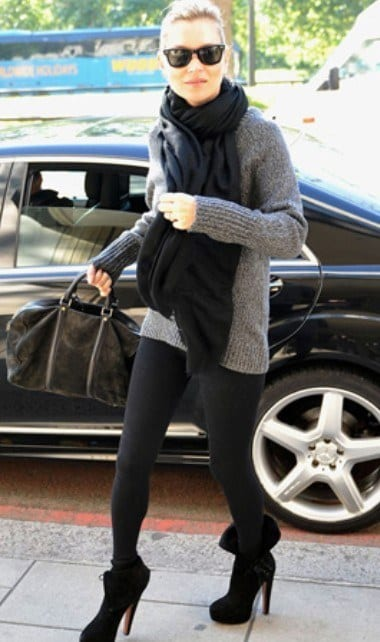Katemoss Outfits with Black Leggings – 21 Ways to Wear Black Leggings