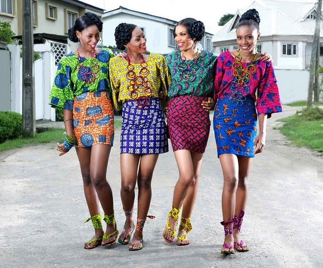 Kintage-Ankara-mini-skirts Kitenge Dresses for Young Girls-18 Cute Kitenge Ankara Dress