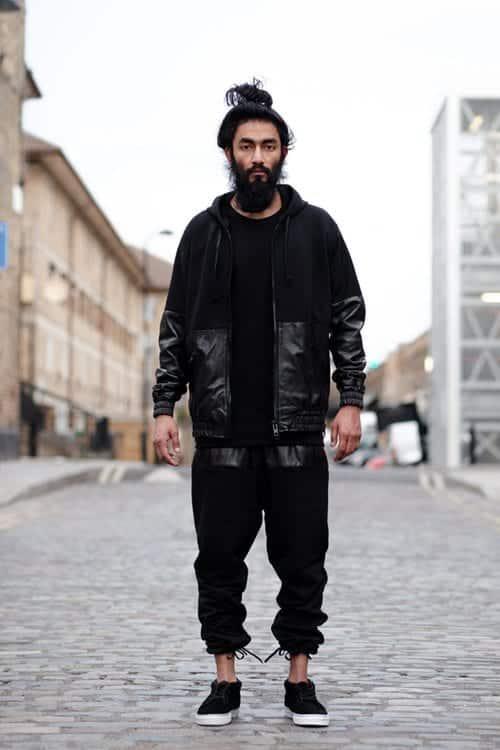 Street-run-way-style Black Shirts Outfits for Men - 19 Ways to Match Black Shirt