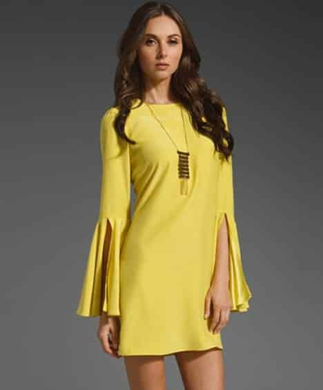 Yellow-with-angel-sleeves Yellow Outfits For Women-14 Chic Ways to Wear Yellow outfits