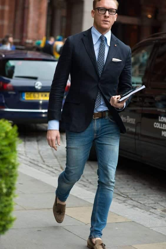 How to Wear Jeans with Blazer