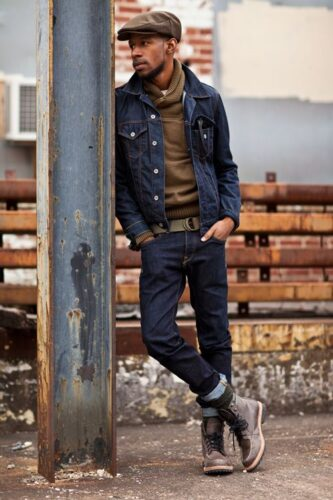 Combining Jeans With Turtle Neck & Jacket