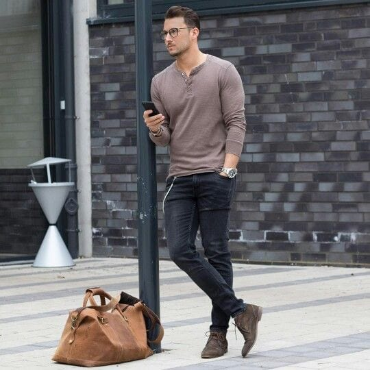 Casual Full-Sleeved T-Shirt and Jeans