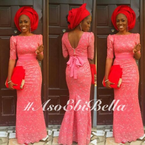 all red fancy kitenge wedding wear