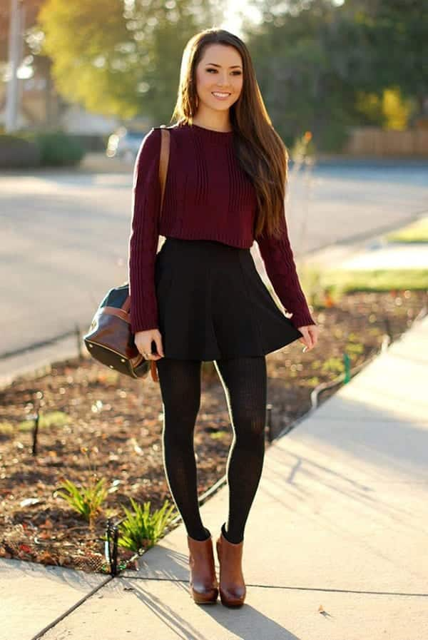 outfits with black leggings � 21 ways to wear black leggings