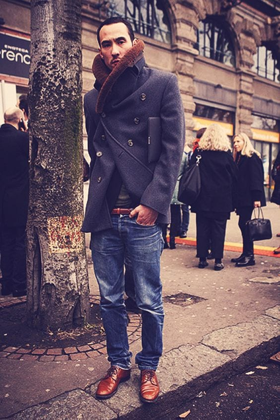 how to wear Jeans with Long Coat
