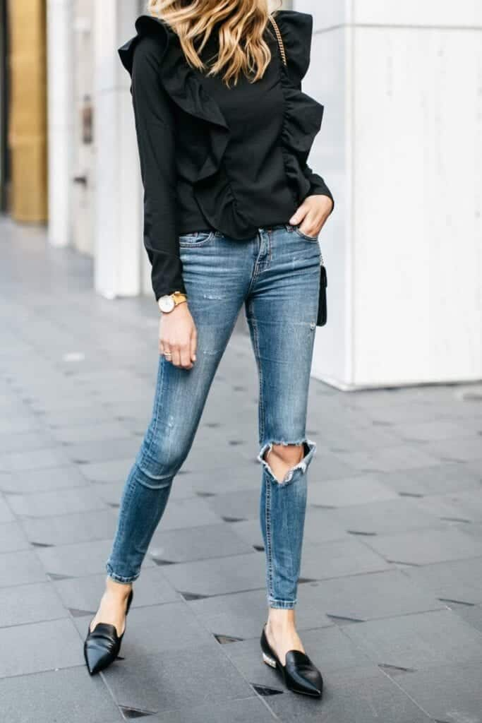 black-69-800x1200-683x1024 Outfits with Ruffle Tops- 15 Ideas How To Wear Ruffle Tops