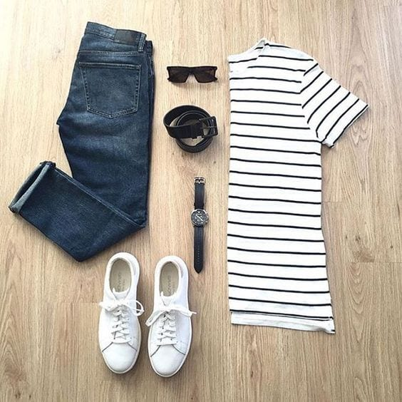 black-white-stripe-shirt Men Polyvore Outfits– 25 Best Polyvore Combinations For Guys