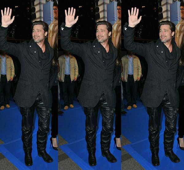 brad-pitt-wearing-leather-trousers Clubbing Outfits For Men-19 Ideas on How to Dress for the Club