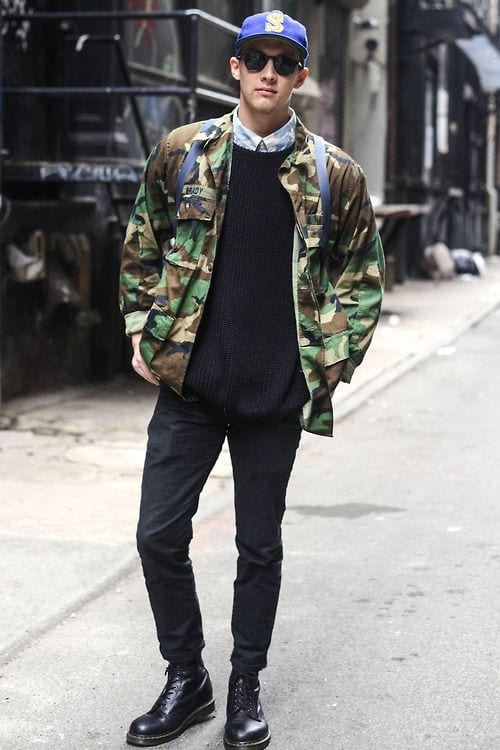 camo-patch-2 Black Jeans Outfits for Men–18 Ways to Wear Black Jeans Guys