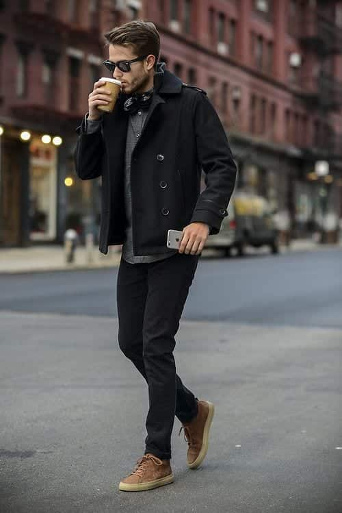 coffee-in-style-black Black Jeans Outfits for Men–18 Ways to Wear Black Jeans Guys