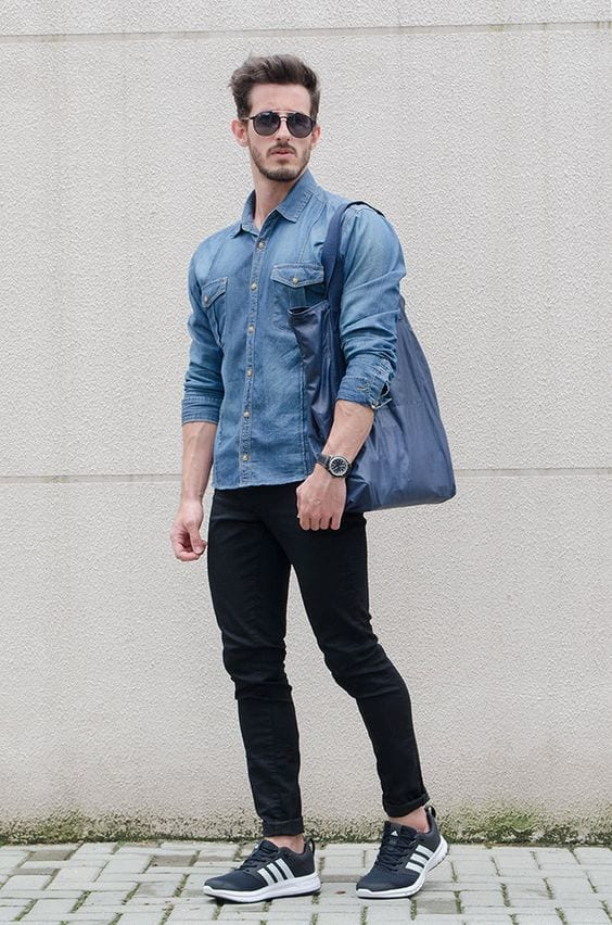 Black jeans outfits for men 18 ways to wear black jeans guys Black shirt blue jeans