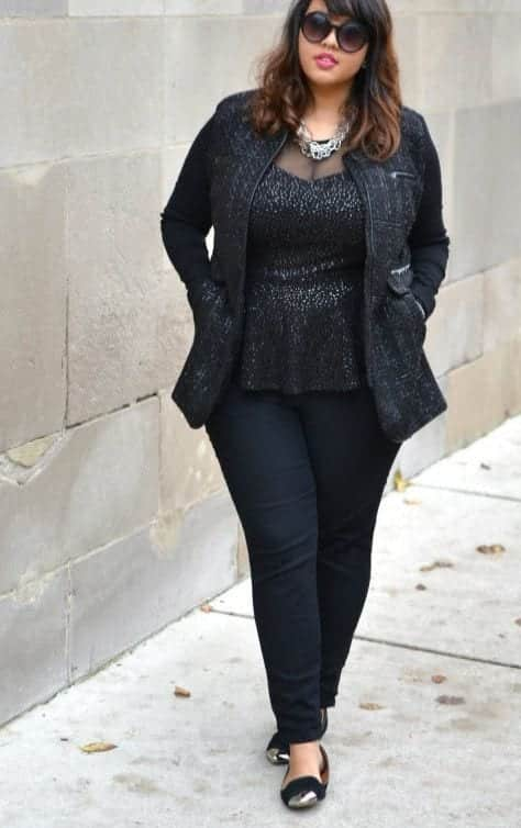 denim Plus Size Date Outfits- 20 Ideas How To Dress Up For First Date