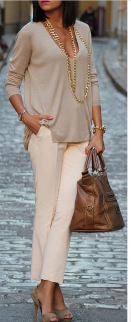 formal-style-crop-pants Women Cropped Pants Outfits- 17 Ideas How To Wear Crop Pants