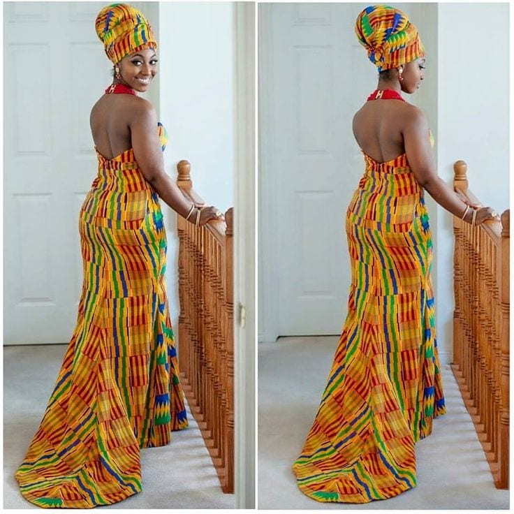 ghana kintege wedding dress