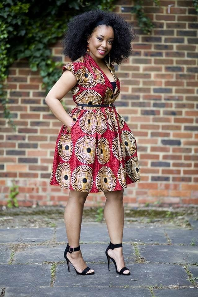 hair_setting Kitenge Dresses for Young Girls-18 Cute Kitenge Ankara Dress