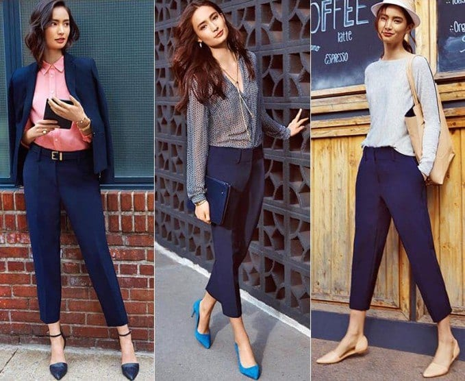 hairstyles-with-crop-pants-1 Women Cropped Pants Outfits- 17 Ideas How To Wear Crop Pants