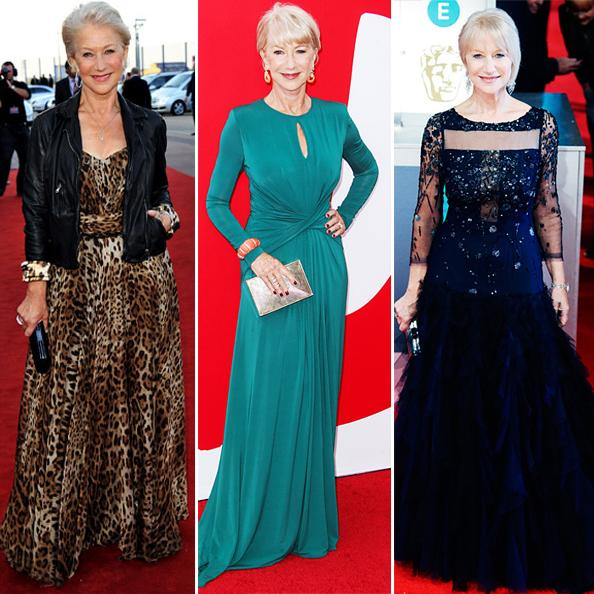 helen-mirren-party-outfit-ideas-for-older-ladies Casual Outfit Ideas for Women Over 60-How to Dress in Your 60s