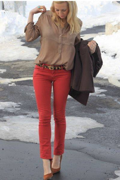 howtowearredjeans19 Red Outfits For Women-18 Chic Ways To Wear Red Outfits