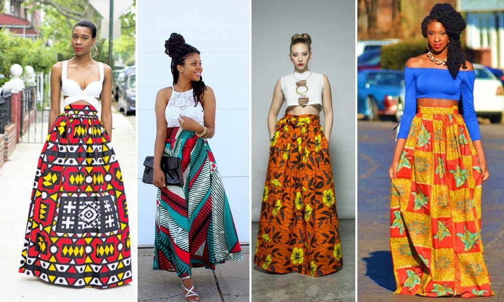 maxi-skirt Kitenge Dresses for Young Girls-18 Cute Kitenge Ankara Dress