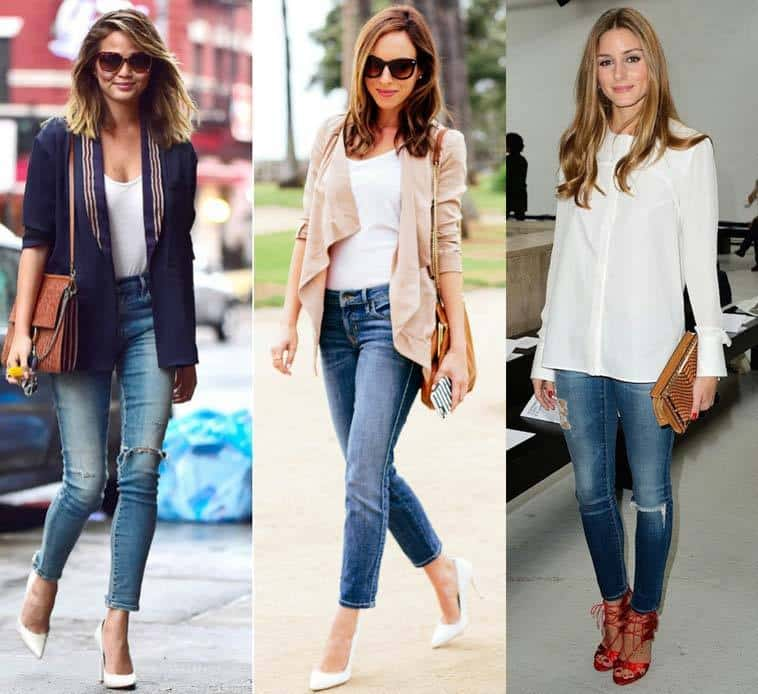 office-look-woth-jeans-and-heels Jeans Outfits in Heels - 20 Ways To Wear Jeans With Heels