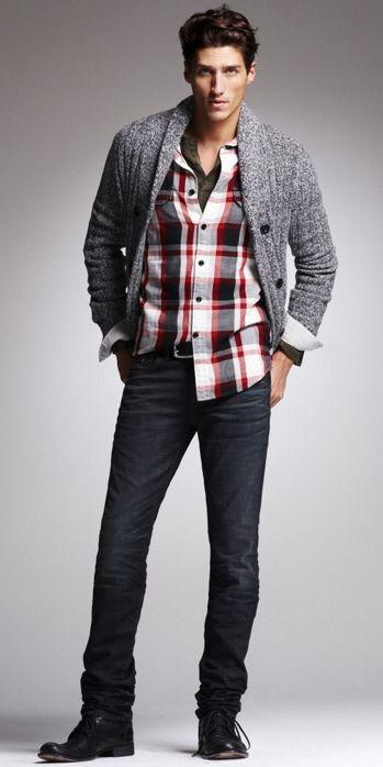 plaid-flannel-37 Black Jeans Outfits for Men–18 Ways to Wear Black Jeans Guys