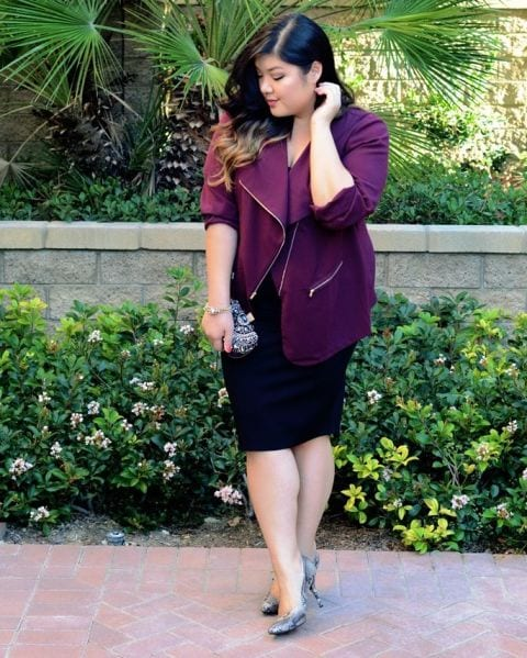 plum Plus Size Date Outfits- 20 Ideas How To Dress Up For First Date