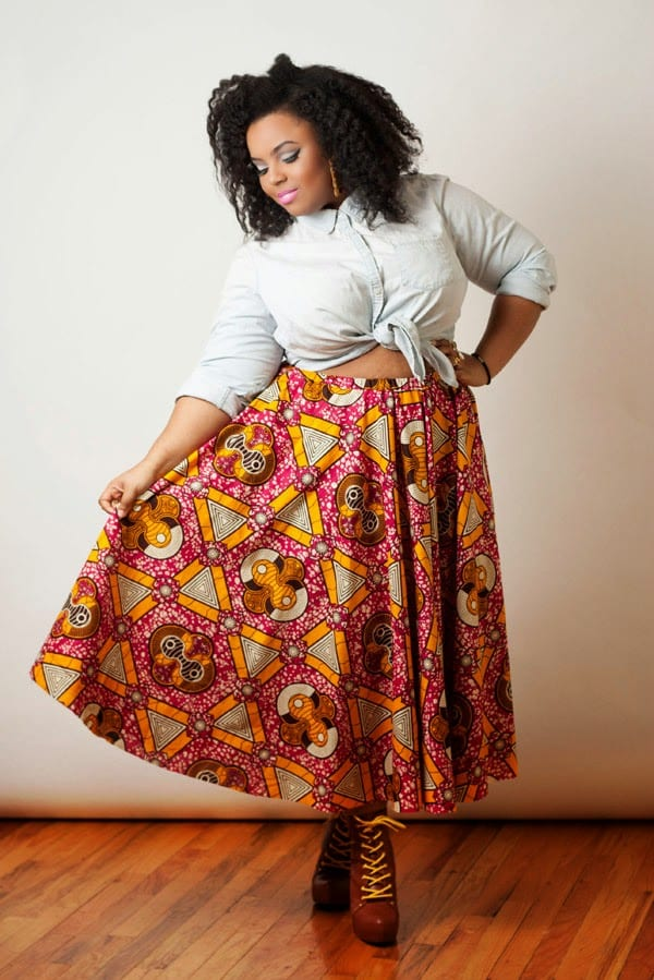 plussize-1 Kitenge Dresses for Young Girls-18 Cute Kitenge Ankara Dress