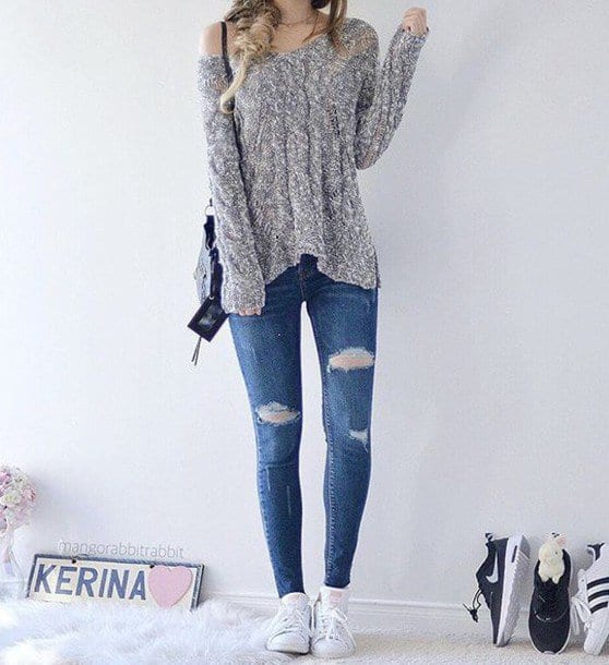 ripped-crop-pants Women Cropped Pants Outfits- 17 Ideas How To Wear Crop Pants