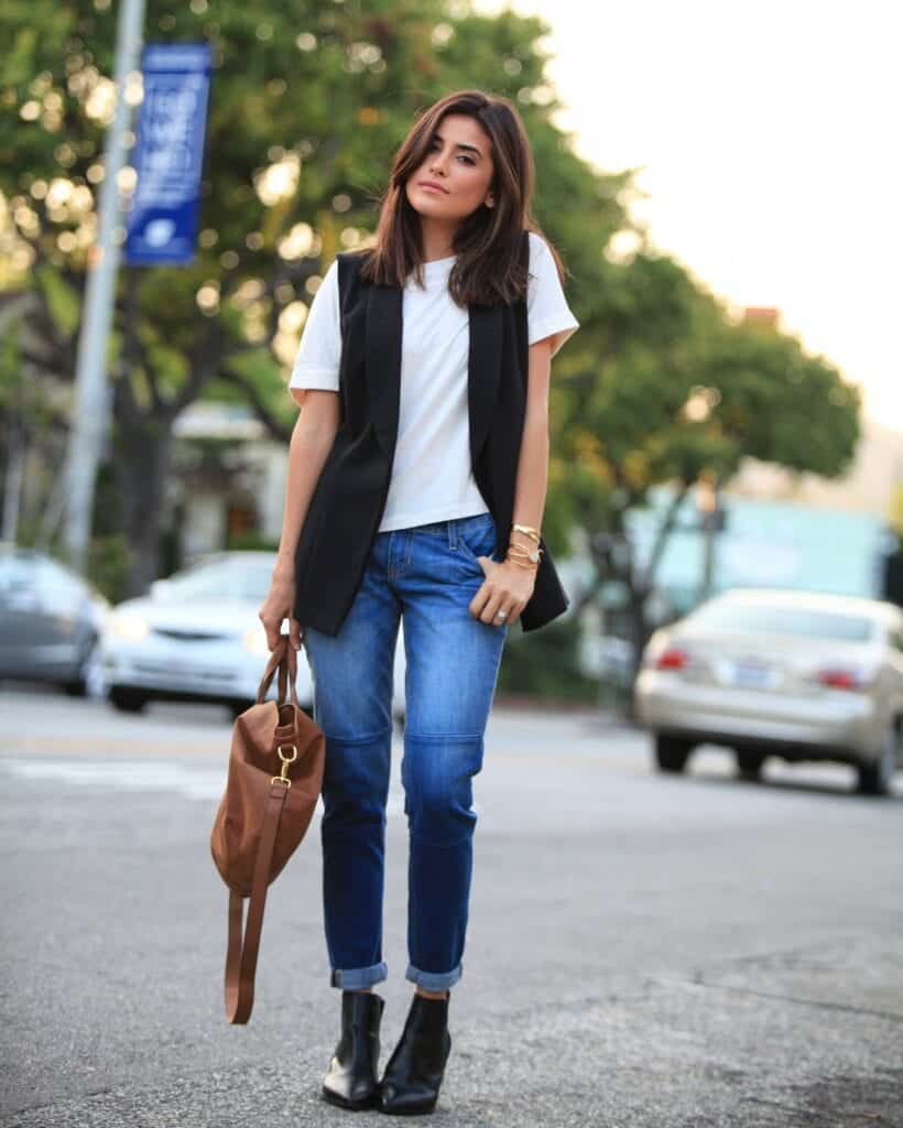 school-ready-with-heels-820x1024 Jeans Outfits in Heels - 20 Ways To Wear Jeans With Heels