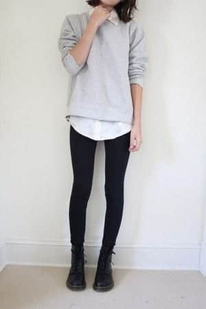 school2 Outfits with Black Leggings – 21 Ways to Wear Black Leggings
