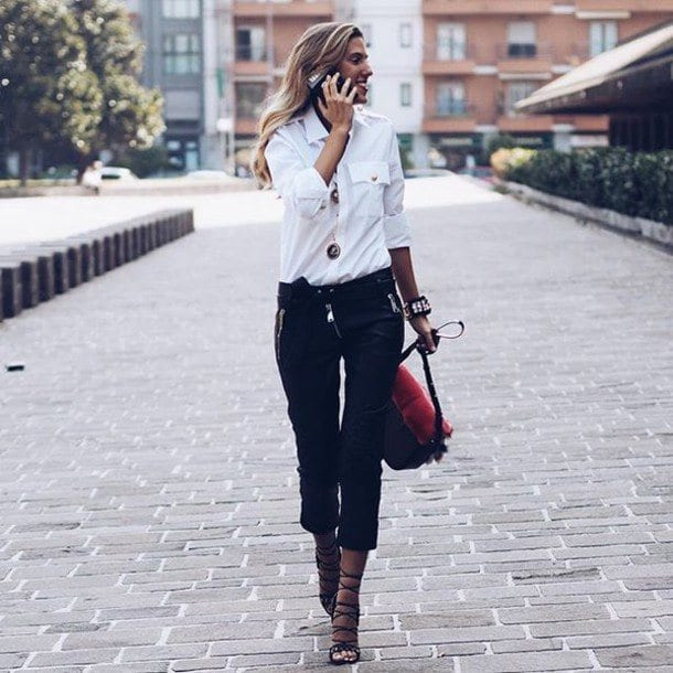 shoes-with-crop-pants Women Cropped Pants Outfits- 17 Ideas How To Wear Crop Pants