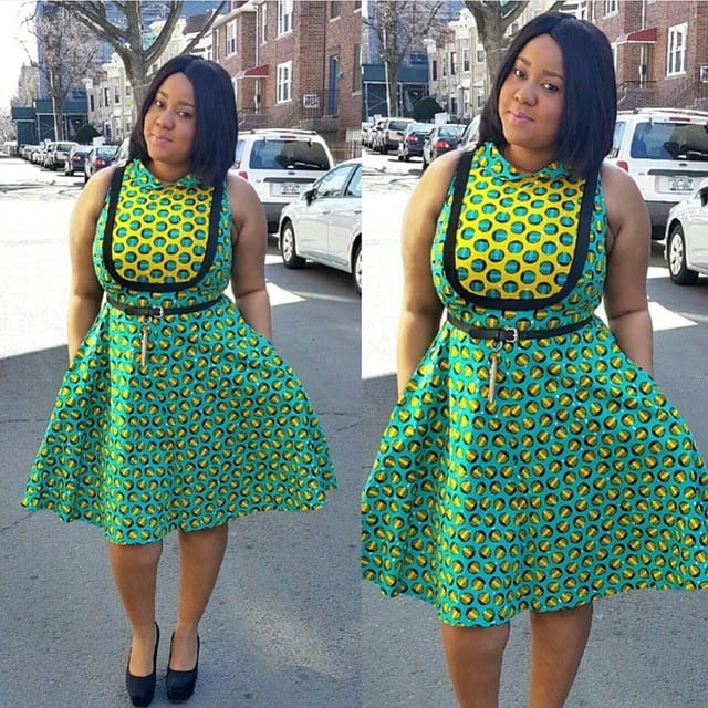 short-dress Kitenge Dresses for Young Girls-18 Cute Kitenge Ankara Dress