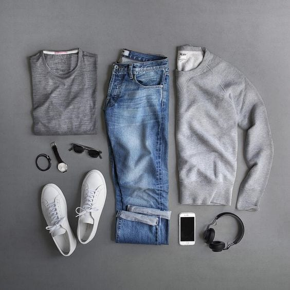 sweat-shirt-with-jeans Men Polyvore Outfits– 25 Best Polyvore Combinations For Guys