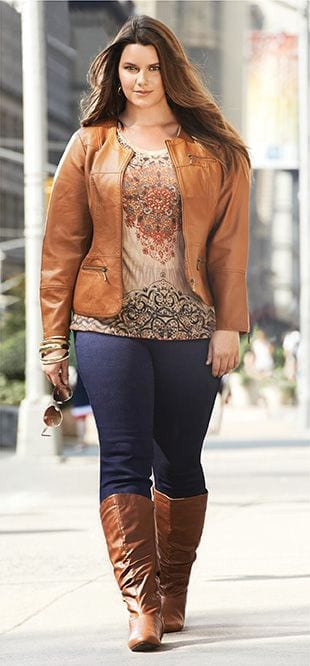 tan Plus Size Date Outfits- 20 Ideas How To Dress Up For First Date