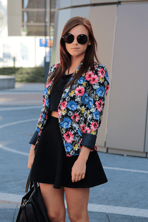 tumblr_n2u4usVayB1rswzkzo1_500 Spring Outfits With Floral Jackets-12 Cute Outfit Ideas