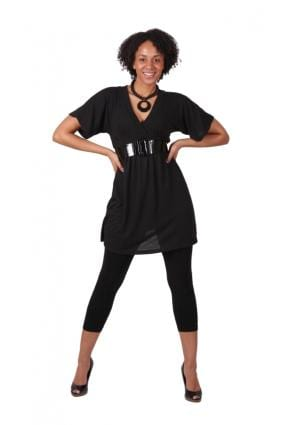 tunic-dress1 Outfits with Black Leggings – 21 Ways to Wear Black Leggings