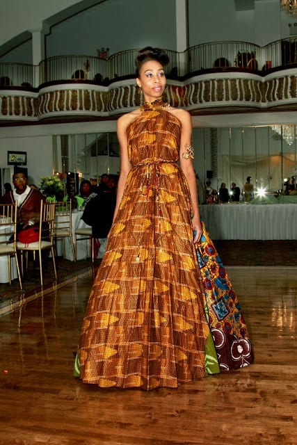 kitenge wedding dress