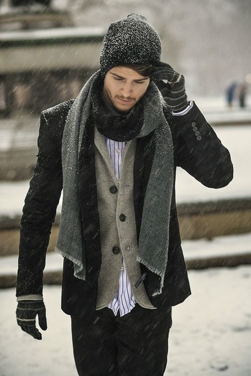 winter-attire-with-patchy-beard Patchy Beard Styles- 40 Best Patchy Facial Hairstyling Ideas