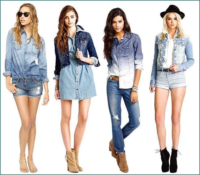 All-Denim-Summer-Outfits-For-Girls Teenage Girls Fashion-20 Outfit Ideas For Teen Girls In Summer