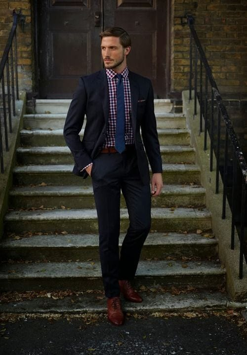 Belt-to-Wear-with-Black-Pants-and-Brown-Shoes 20 Outfit Ideas to Wear Black Pants with Brown Shoes for Men