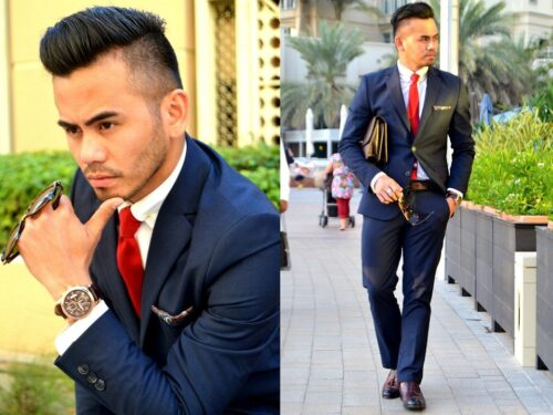 Blue-Suit-Brown-Shoes-Combinations-for-Prom-500x375 20 Ways to Wear Blue Suits with Brown Shoes Ideas for Men