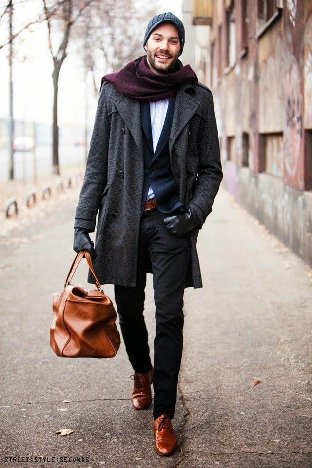 Brown-Shoes-with-Black-Suit 20 Outfit Ideas to Wear Black Pants with Brown Shoes for Men