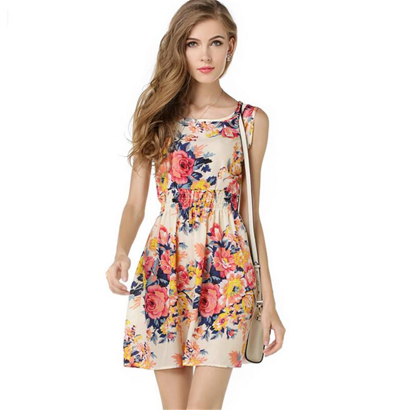 Floral-Design-Summer-Dresses-For-Teenage-Girls Teenage Girls Fashion-20 Outfit Ideas For Teen Girls In Summer