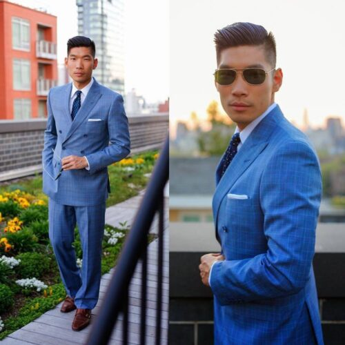Light-Blue-Suit-With-Brown-Shoes.-500x500 20 Ways to Wear Blue Suits with Brown Shoes Ideas for Men