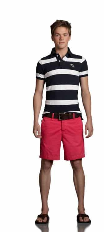 Shorts-With-Striped-Polo-For-teenage-boys Teenage Boys Dressing - 20 Summer Outfits For Teenage Guys