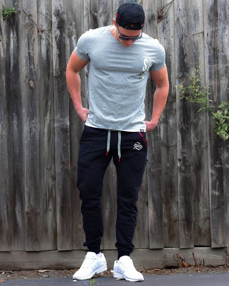 Tapered-Sweatpants-Men's Men's Workout Outfits - 20 Athletic Gym-wear Ideas for Men