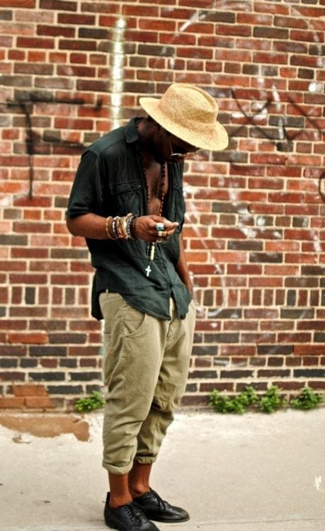 The-folded-pants-swag Bohemian Outfits for Men – 17 Ways to Get Boho Look for Guys