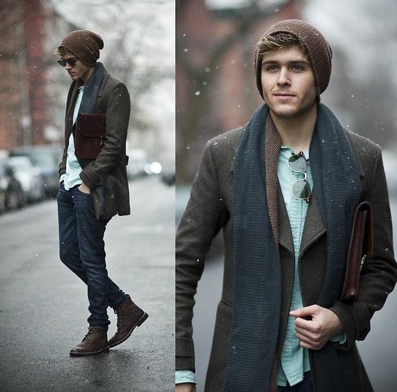 60 Winter Outfits For Men – Cold Weather Male Styles Winter can present many challenges for the average fashionable man's wardrobe, and the ridiculous variety of weather and temperatures creates the opportunity for great success with your outfits or utter fashion failure.