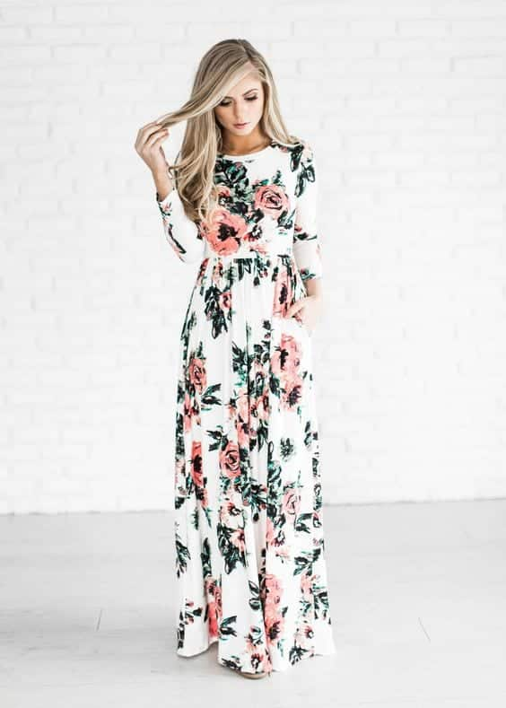 a-long-dress Easter Outfit Ideas 2018 - 20 Ideas What to Wear This Easter